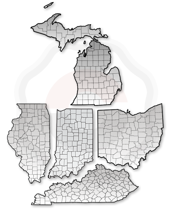 Indiana and Ohio Map