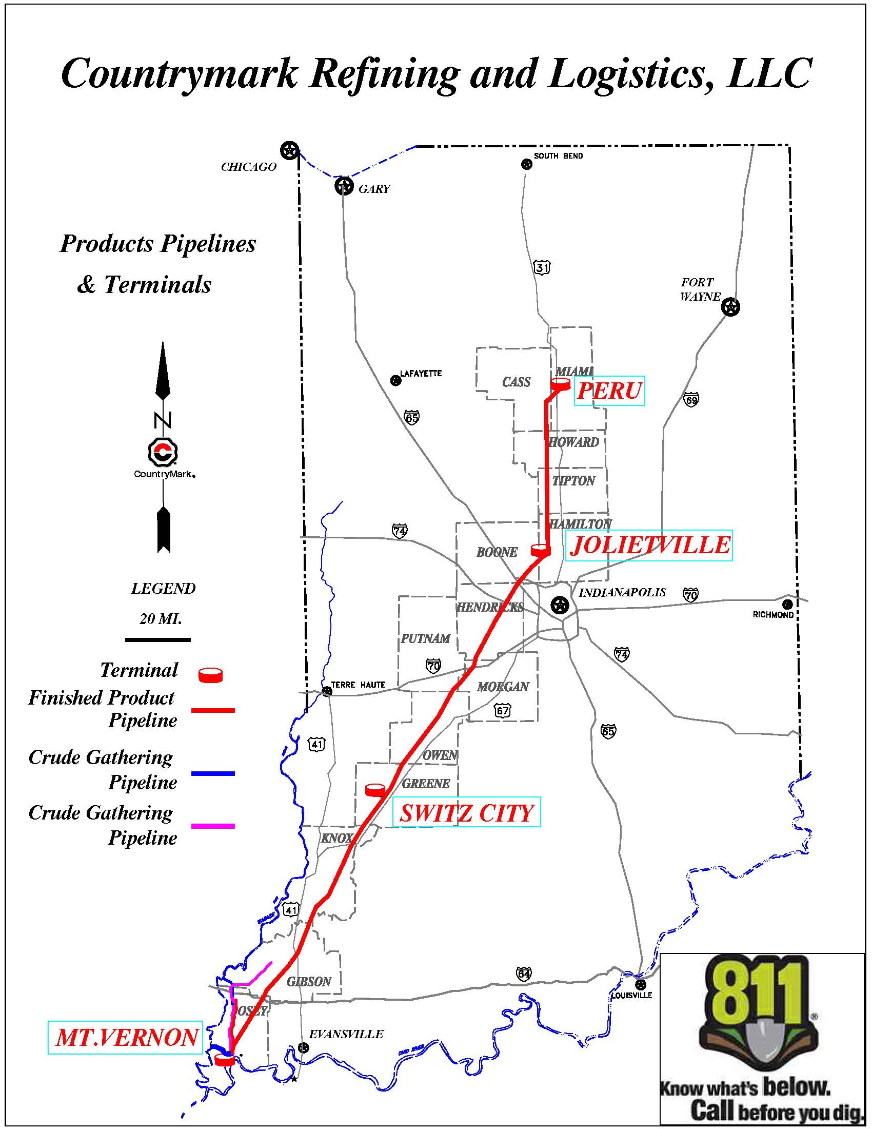 Products Pipeline Map Indiana On Us Map